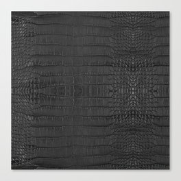 Alligator Black Leather Canvas Print