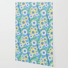 Bright floral pattern. Wallpaper