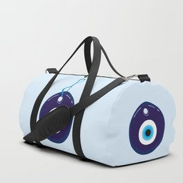 Turkish Blue Eye Bead Duffle Bag
