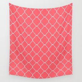 Coral Red Moroccan Wall Tapestry