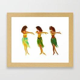 Hula Lessons Framed Art Print