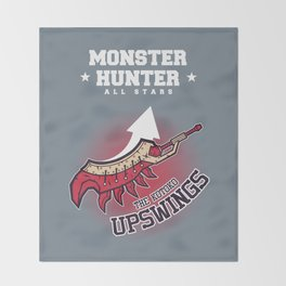 Monster Hunter All Stars - The Kotoko Upswings  Throw Blanket