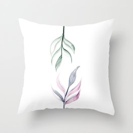 Twin Leaves Throw Pillow