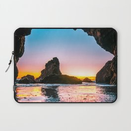 Ocean Cave At Sunset Laptop Sleeve