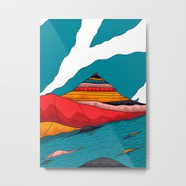 The peak by the river Metal Print