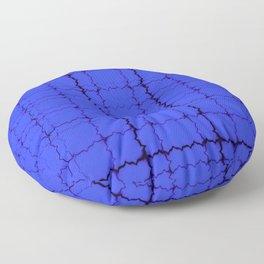 jagged, blue Floor Pillow