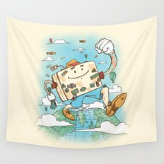 Mr Globetrotter Wall Tapestry