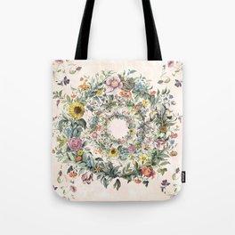 Circle of life- floral Tote Bag