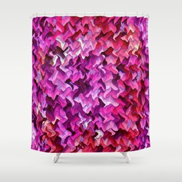 Pretty in wavy Pink..... Shower Curtain