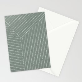 Lines (Linen Green) Stationery Cards