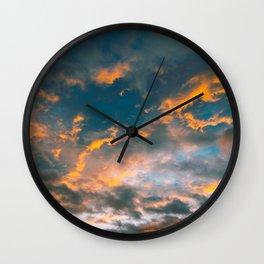 The Sky On Fire Wall Clock