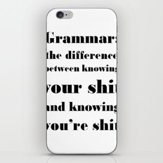 Grammar: The Difference Between Your and You're iPhone & iPod Skin