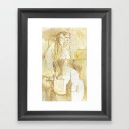 two headed Framed Art Print