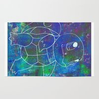 squirtle Area & Throw Rugs featuring Squirtle by pkarnold + The Cult Print Shop