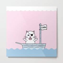Pirate Cat Metal Print