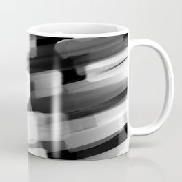 Racing City Lights - Black and White Coffee Mug