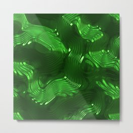 Shiny green Metal Print