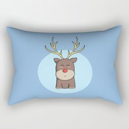Cute Kawaii Christmas Reindeer Rectangular Pillow
