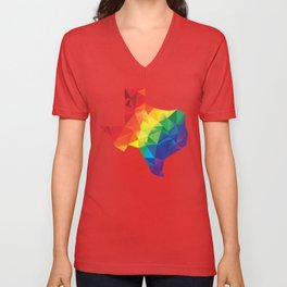Geometric Pride Texas Unisex V-Neck