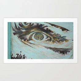 Cuban Streetart - Blue Eye Art Print