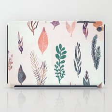 Mix of plants and watercolor leaves iPad Case