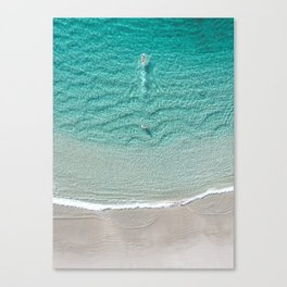 Swimming Away - Crystal clear beach in Western Australia Canvas Print