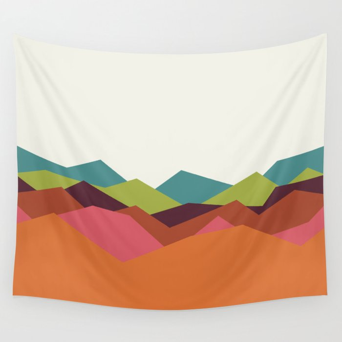 Chevron Mountain Wall Tapestry