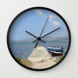 By The Boats Wall Clock