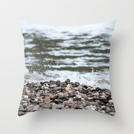 Beach Pebbles Throw Pillow