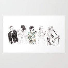 1d on stage Art Print