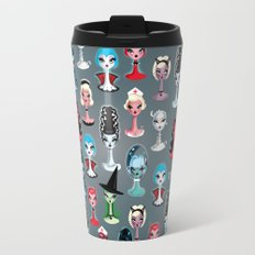 Spooky Dolls Pattern Travel Mug