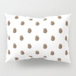 Minimalist watercolor pattern with fir cones #s7 Pillow Sham