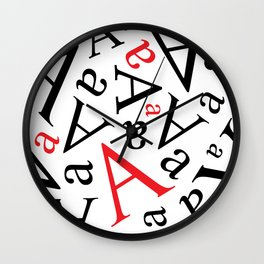Falling Alphabet - A is for... Wall Clock