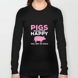pig pig pigs boar sow farmer farmer Long Sleeve T-shirt