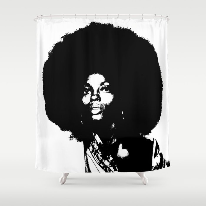 Diana Ross Bu0026W Shower Curtain