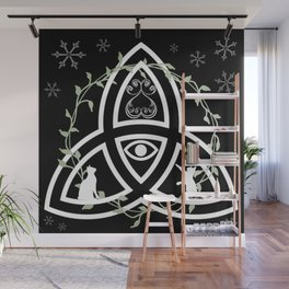 Celtic Knot, Evil Eye, and Cats Wall Mural