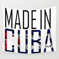 cuba Wall Tapestries featuring Made In Cuba by VirgoSpice