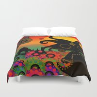 india Duvet Covers featuring India by BLOOP