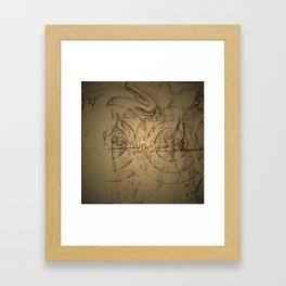 Meeting of the planets. Framed Art Print