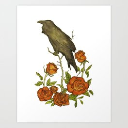 Of Ravens and Roses Art Print