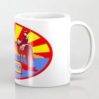 arizona Mugs featuring Arizona by Anfelmo