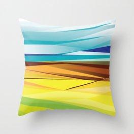 Striated Desert Throw Pillow