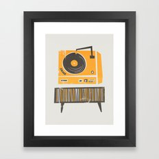 Vinyl Deck Framed Art Print