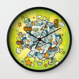 Fisticuffs Wall Clock
