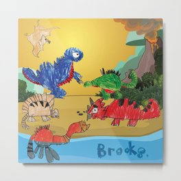 Brooks' Dinos Metal Print