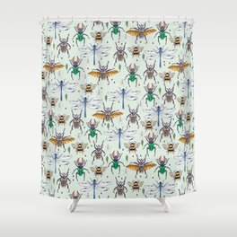 lucky insects Shower Curtain