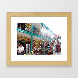 CAMINITO SHOPS ARGENTINA Framed Art Print