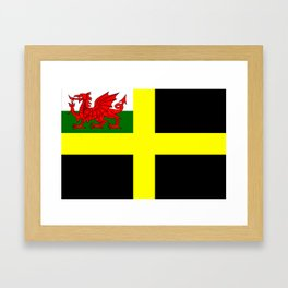 Flag of Saint David Framed Art Print