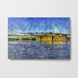 Budapest Vincent Van Gogh Metal Print