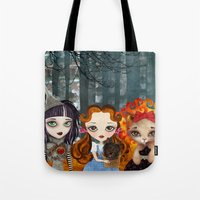 oz Tote Bags featuring Oz Girls by Sandra Vargas